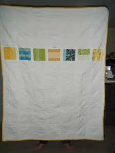 Completed quilt back
