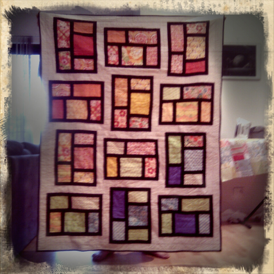 "The front of the ""KItchen window"" quilt"